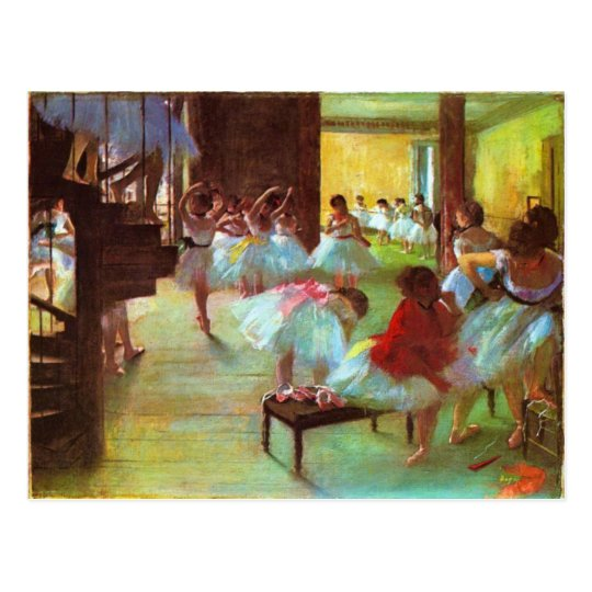 Colourful Edgar Degas Ballerina Fine Art Postcard
