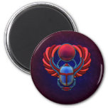 Colourful Egyptian Scarab 6 Cm Round Magnet