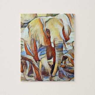 Colourful Elephant Abstract Jigsaw Puzzle