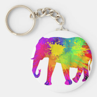 Colourful Elephant Design Key Ring