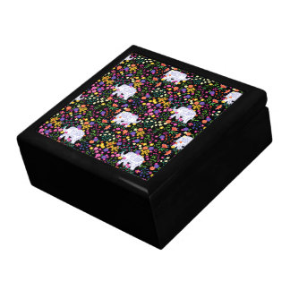 Colourful elephant floral Indian inspired design Gift Box