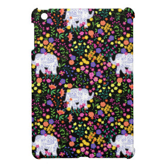 Colourful elephant floral Indian inspired design iPad Mini Covers