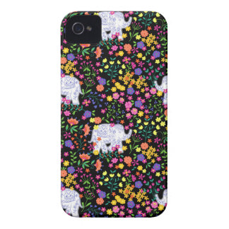 Colourful elephant floral Indian inspired design iPhone 4 Case