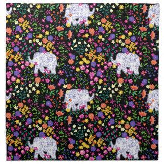 Colourful elephant floral Indian inspired design Napkins