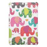 Colourful elephant kids pattern ipad mini case