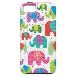 Colourful elephant kids pattern iphone 5 case