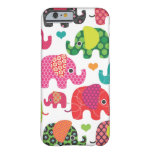 Colourful elephant kids pattern iPhone 6 case Barely There iPhone 6 Case