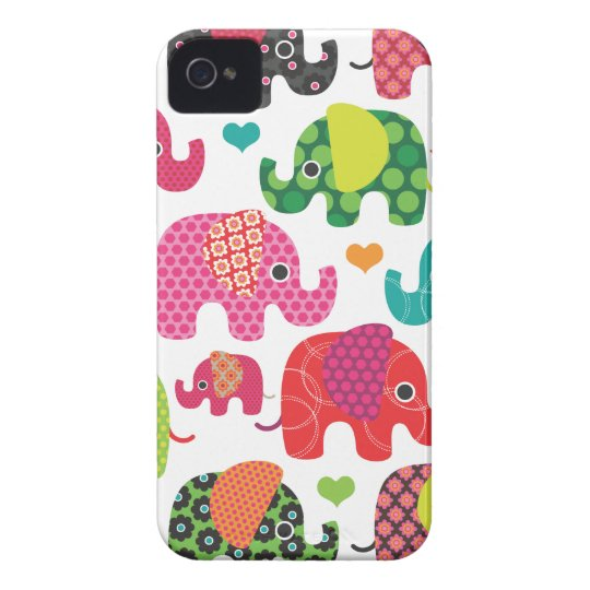 Colourful elephant kids pattern iphone case