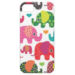 Colourful elephant kids pattern iphone case iPhone 5 cover