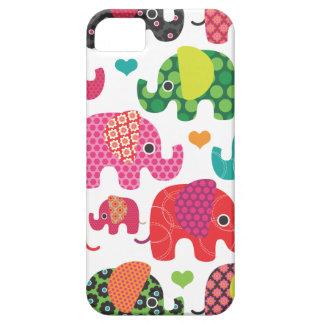 Colourful elephant kids pattern iphone case