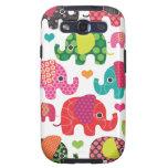 Colourful elephant kids pattern samsung case