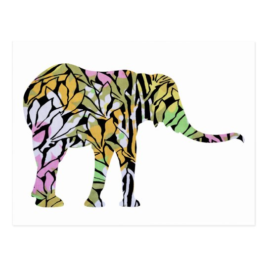 Colourful Elephant Postcard