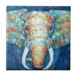 Colourful Elephant Small Square Tile