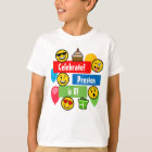 Colourful Emoji Birthday Party Kids or Boys Custom T-Shirt