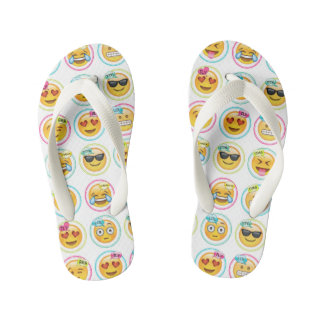 Colourful Emoji Flip Flops