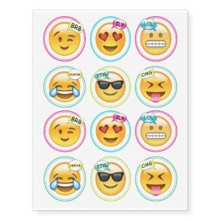 Colourful Emoji Temporary Tatoos