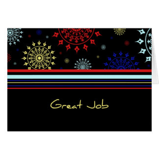 Colourful Employee Appreciation Great Job Card