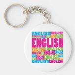 Colourful English Key Chain