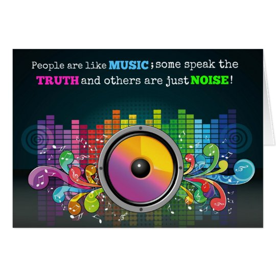 Colourful Equalizer People Are Like Music Quote Card