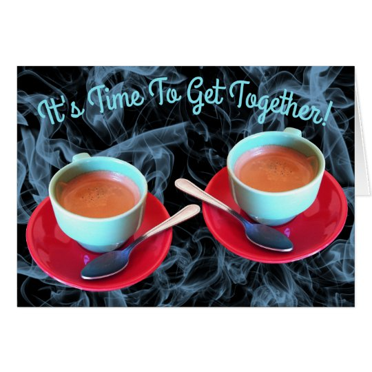 Colourful Espresso Cup and Saucer Photograph Card