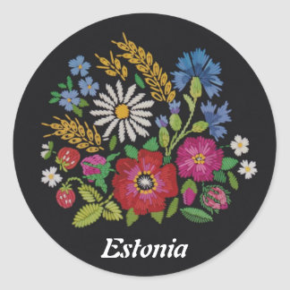Colourful Estonian Wild Flowers Stickers