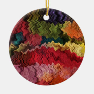 Colourful Fabric Abstract Ornament