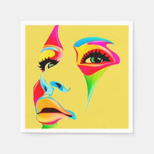 Colourful face Paper Napkin