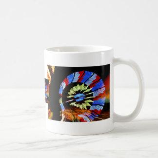 Colourful fair ride neon light photograph coffee mug