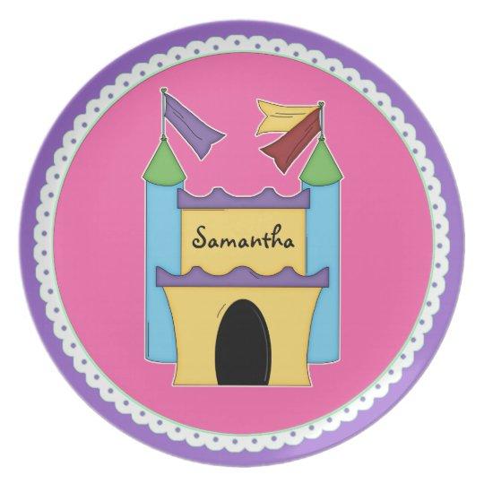 Colourful Fairytale Castle Custom Plate