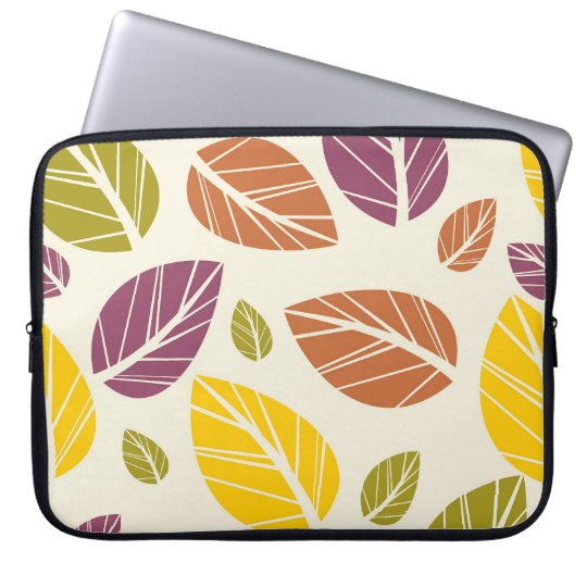 Colourful Fall Leaves Purple Maroon Yellow Green Laptop
