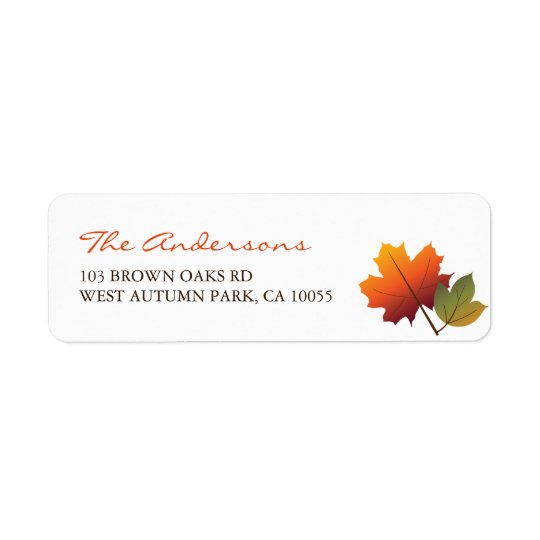 Colourful Fall Leaves Thanksgiving Address Labels