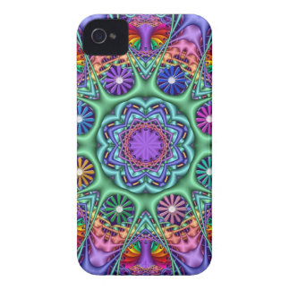 Colourful Fantasy Floral Kaleidoscope iPhone 4 Case-Mate Cases