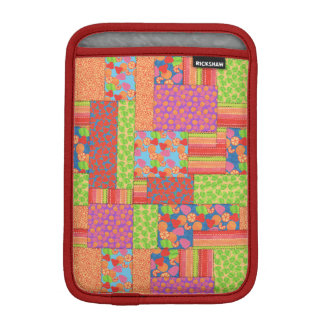 Colourful Faux Patchwork of Summer Fruits Patterns iPad Mini Sleeve