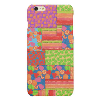 Colourful Faux Patchwork of Summer Fruits Patterns iPhone 6 Plus Case