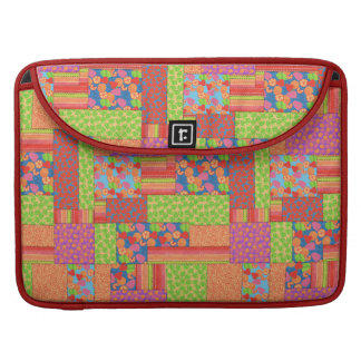 Colourful Faux Patchwork of Summer Fruits Patterns MacBook Pro Sleeve