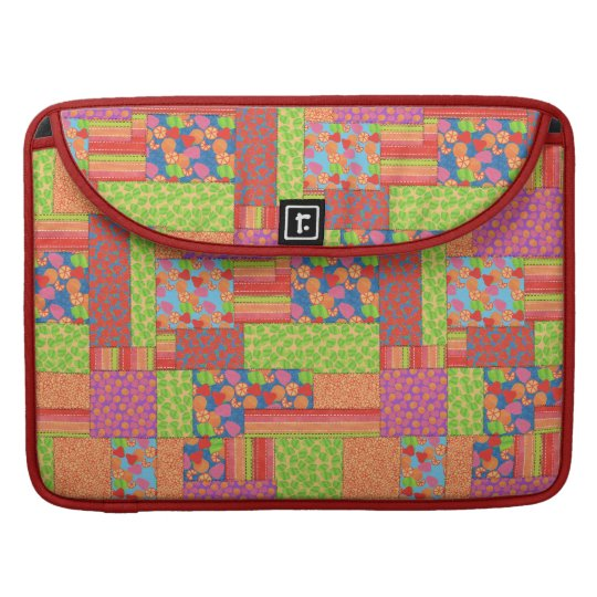 Colourful Faux Patchwork of Summer Fruits Patterns Sleeve