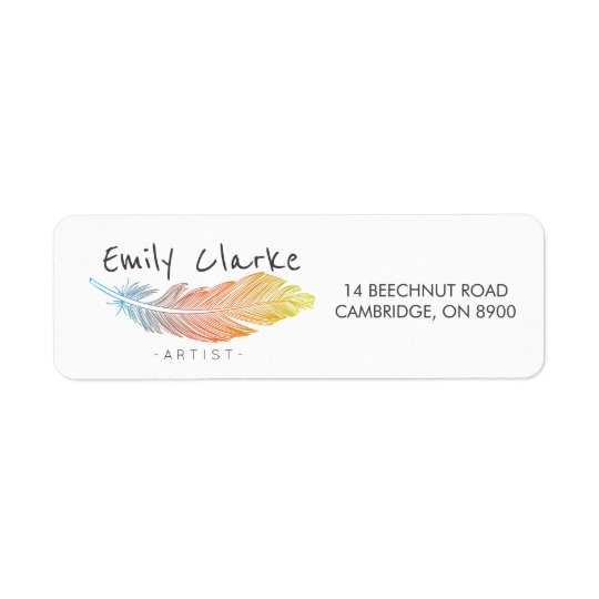 Colourful Feather Personalised