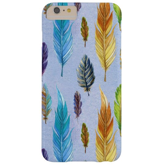 Colourful Feathers Seamless Pattern Barely There iPhone 6
