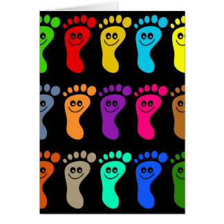 Colourful Feet Card