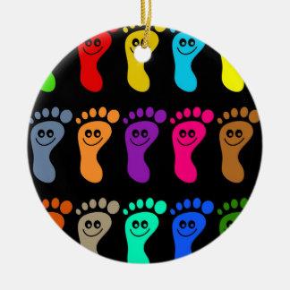 Colourful Feet Christmas Ornament
