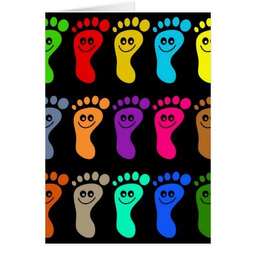 Colourful Feet Greeting Card