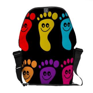 Colourful Feet Messenger Bag