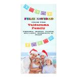 Colourful Feliz Navidad Photo card with Banners
