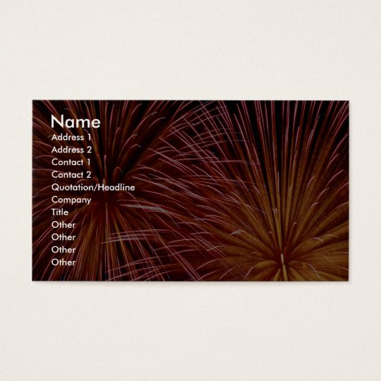 Colourful Fireworks, Canada Day Business Card
