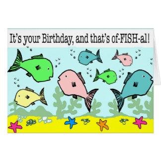 Colourful Fish Birthday Card