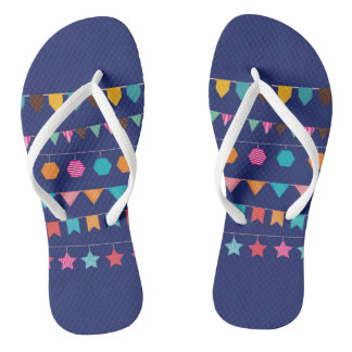Colourful flags flip flops for everyday wear