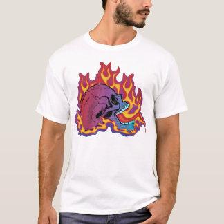 Colourful Flaming Skull T-Shirt