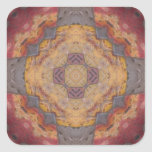 Colourful Floor Tiles Kaleidoscope 2 Square Sticker
