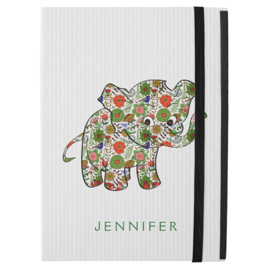 Colourful Floral Baby Elephant