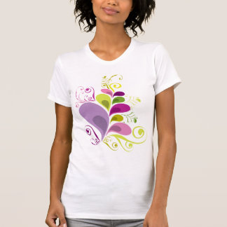 Colourful Floral Deco Leaves Nature Art Deco Chic T-shirts